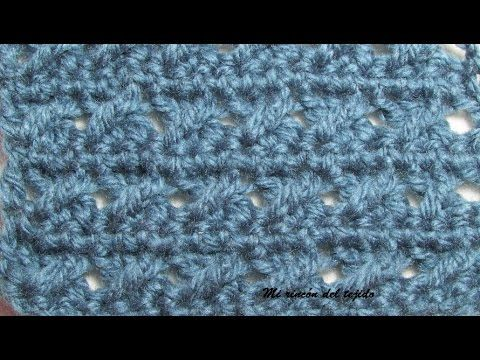 PUNTO EN CROCHET DE FANTASÍA EN RELIEVE - YouTube   puntadas crochet ...