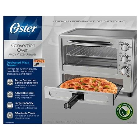 Oster Pizza Toaster Oven TSSTTVPZDA, Silver | My tiny
