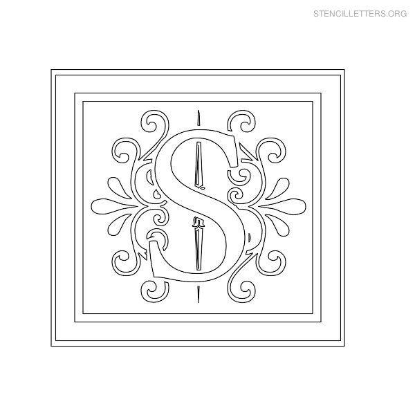 Stencil Letters S Printable Free S Stencils  Stencil Letters Org