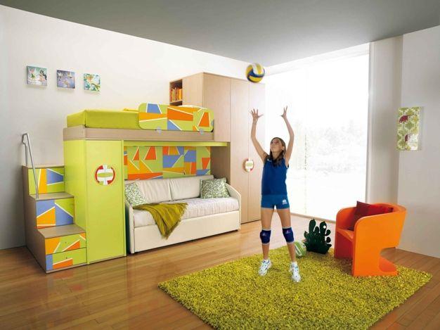 Ergonomic Kids Bedroom Designs For Two Children From Linead Kidsomania Kids Bedroom Designs Kid Room Decor Girly Bedroom