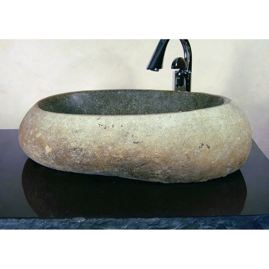Yosemite Home Decor Stone Products Natural Sand Stone Vessel Round Bathroom Sink Stone Vessel Sinks Yosemite Home Decor Stone Decor