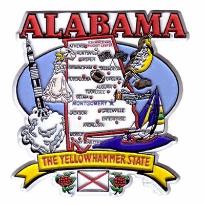 Magnet State of Alabama Yellowhammer