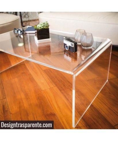 Tavolo da salotto in plexiglass trasparente Acrilico