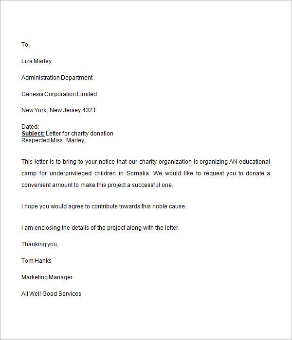 charity letters companies donation request letter fundraising - charity proposal sample
