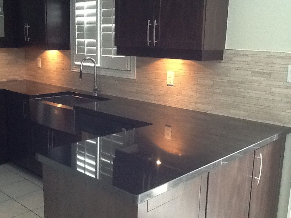 Pin By Dana Bartocci On New House Afters Stainless Steel Countertops Countertops Cultured Marble Countertops