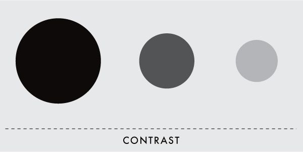design elements and principles examples contrast is the