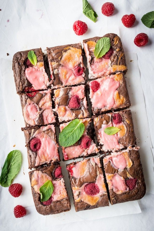 Thick, fudgy chocolate brownies, swirled with fresh raspberry cheesecake are an easy, delicious recipe that is so addictive, you won't be able to have just one!