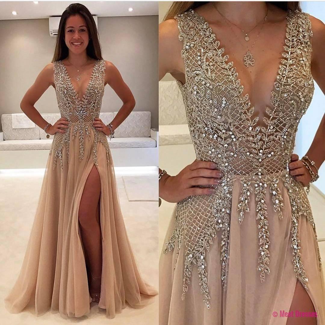 Charming prom dressbeaded prom dressfashion prom dresssexy party