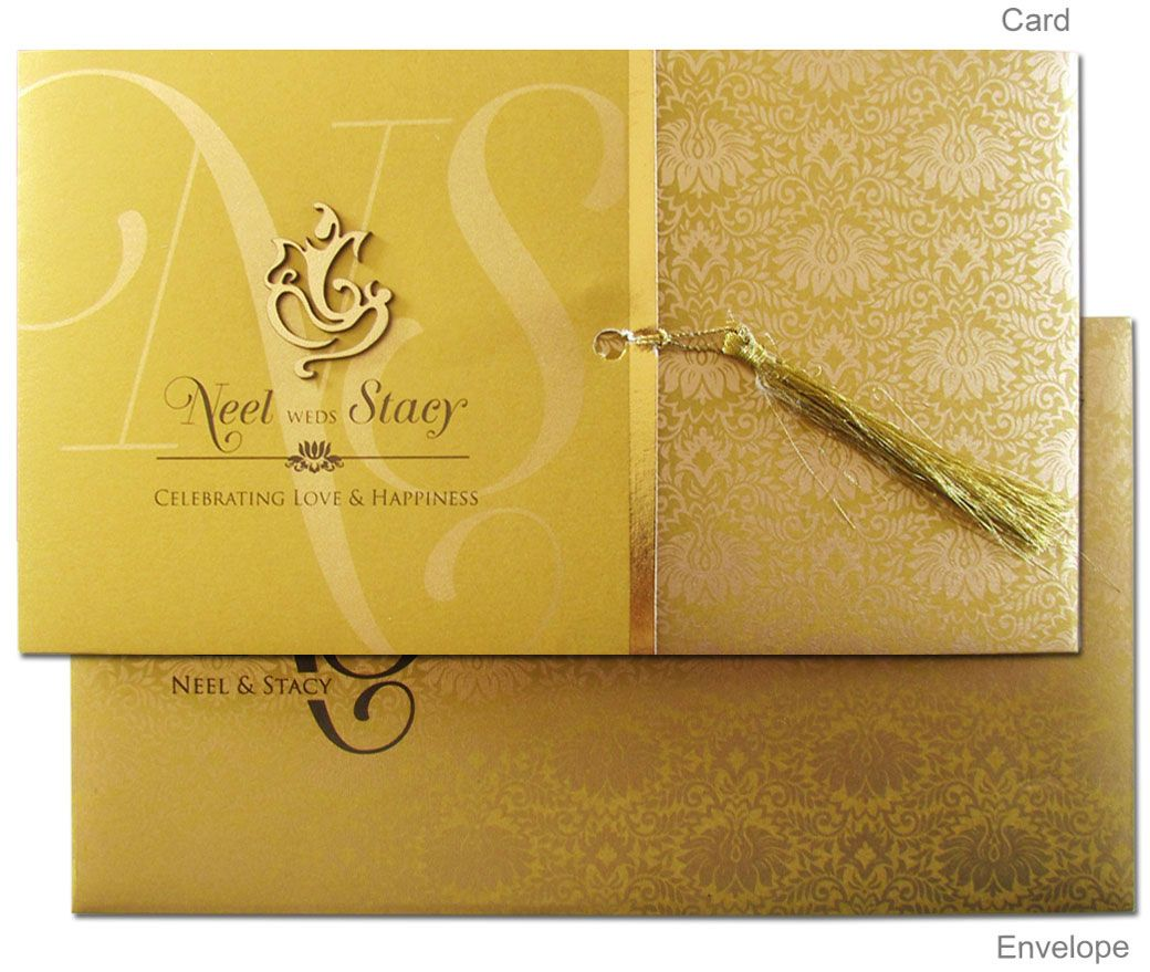 Card Front | Indian wedding invitation cards, Hindu wedding cards, Hindu wedding  invitations