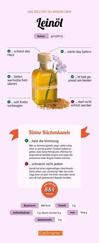 Leinöl Leinöl Nutrition nutrition facts broccoli