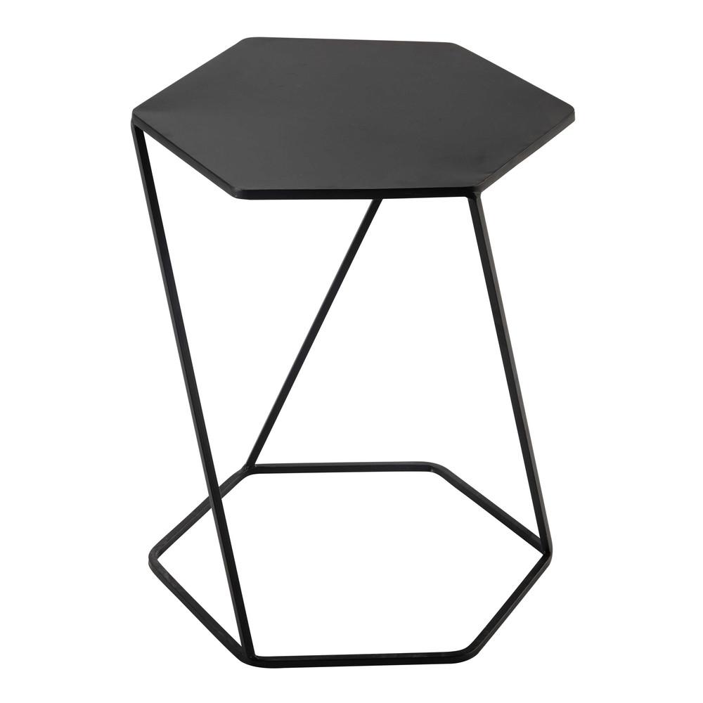 Black metal side table - Curtis Metal Side Table In Black W 45cm
