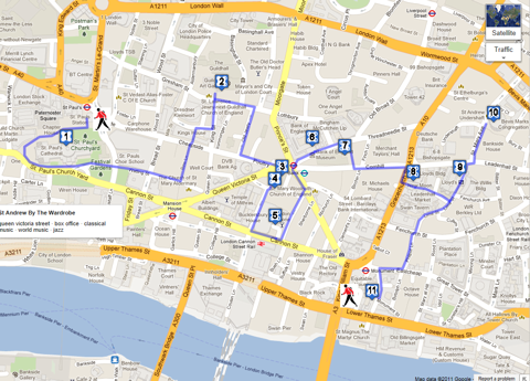 City of London Walk map - 2 hours in 2020 | London city