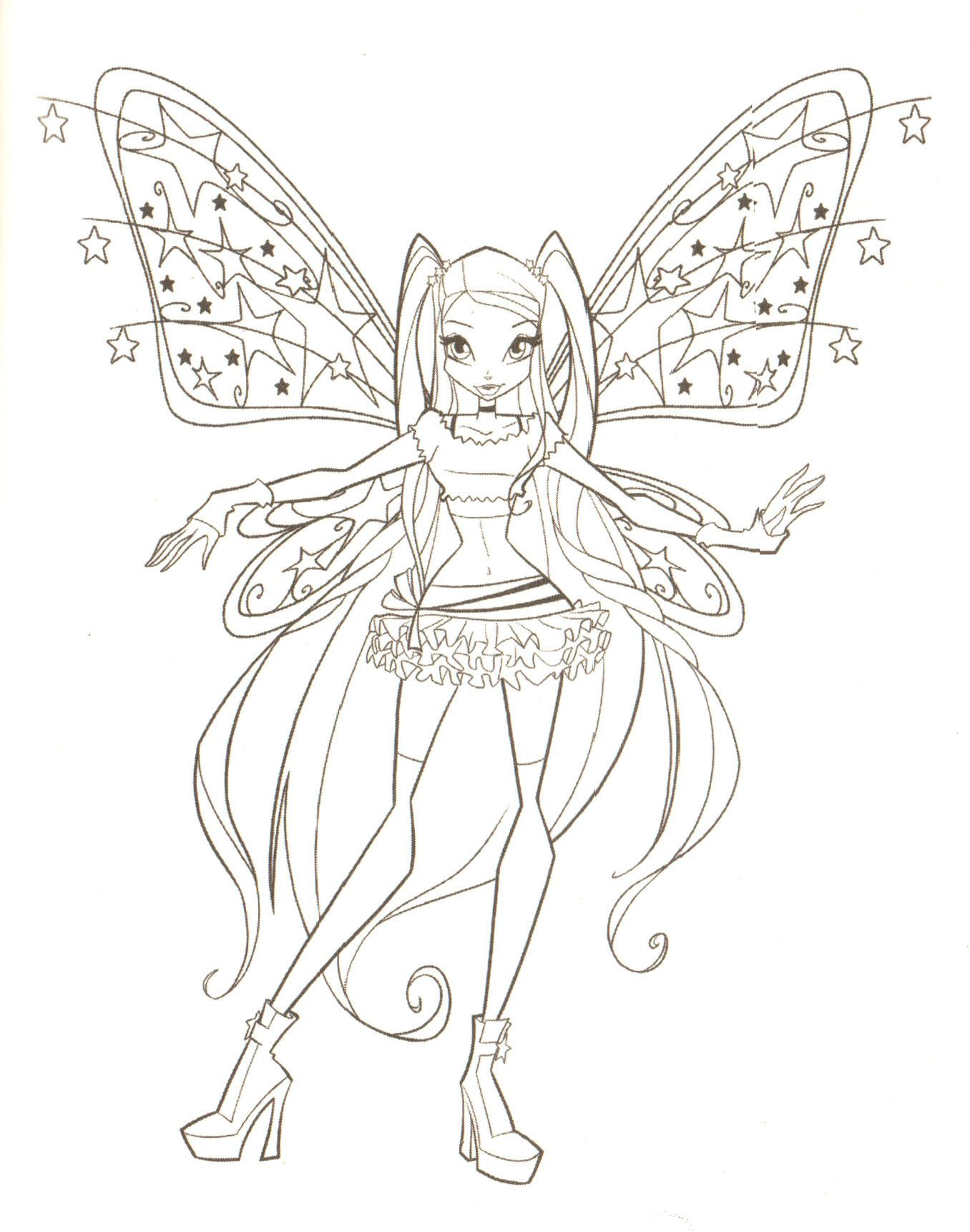 Free printable winx club coloring pages - Winx Fairy To Color