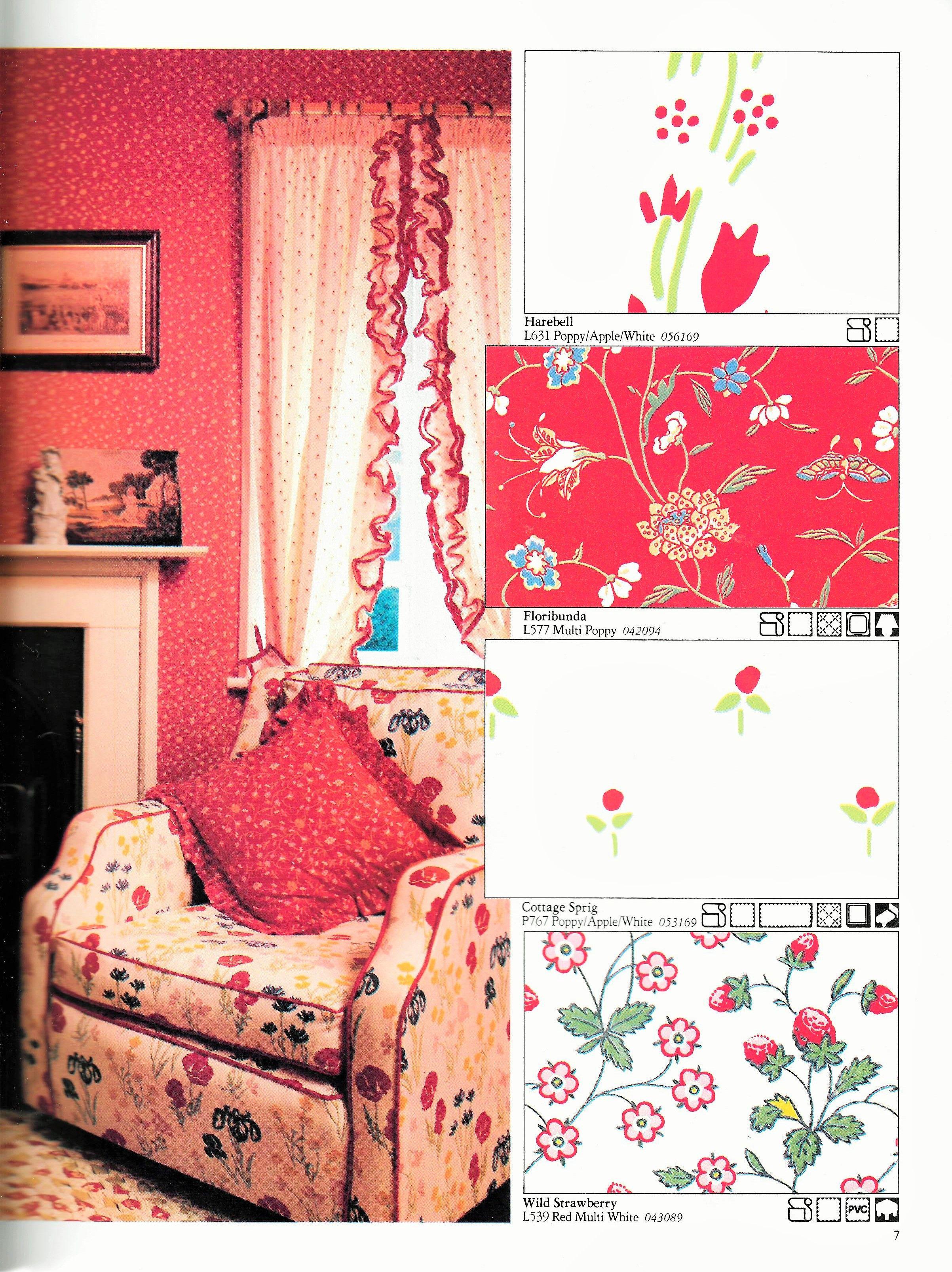 Laura Ashley 1983 Home Furnishings Catalogue Harebell Floribunda Cottage Sprig Wild Strawberry