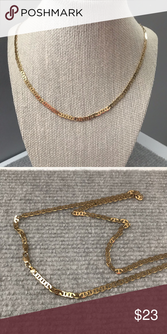 6fa6ad36d5a9d Men's Gold Color Gucci Link Chain Material: Gold Filled Accessories ...