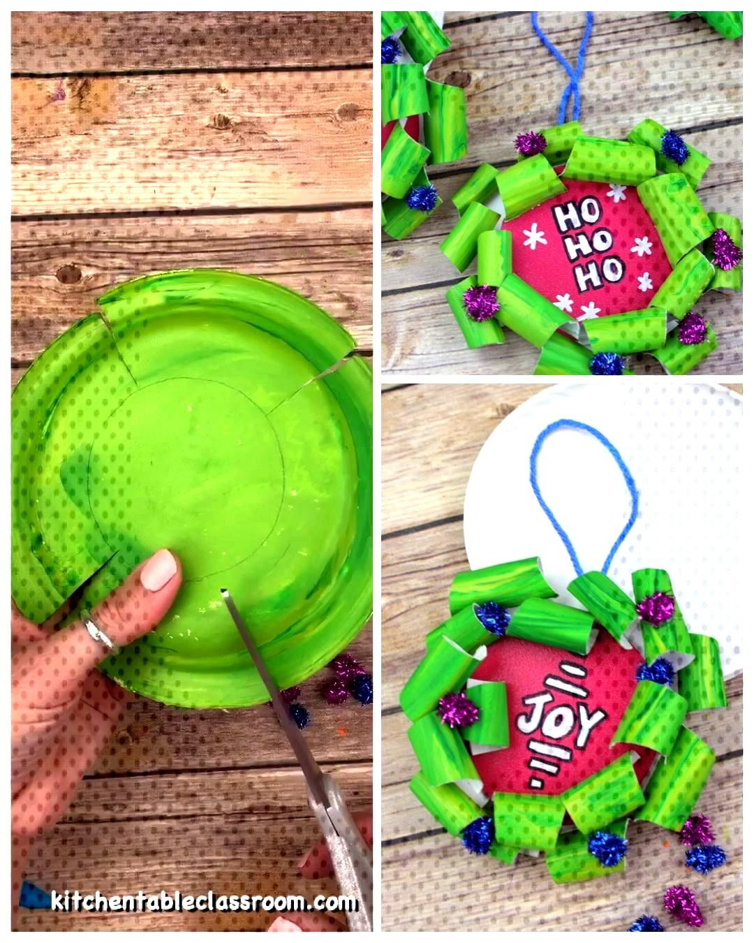 Paper Plate Christmas Wreath - The Kitchen Table Classroom Paper Plate Christmas Wreath - The Kitch