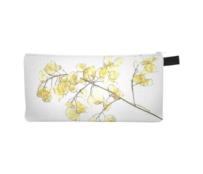 #Gold #White #Pouch #Printed #Pencil #Case #Coin #Purse by WhimZingers on Etsy $12