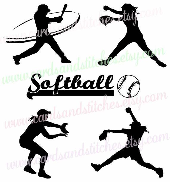 Softball silhouette