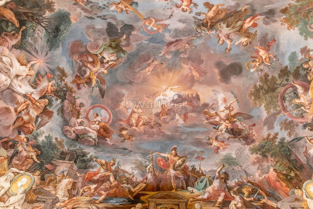 Renaissance Fresco Art Wallpaper Mural In 2020 Renaissance Art Paintings Renaissance Paintings Art Wallpaper