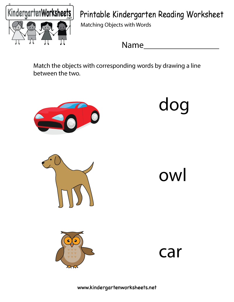 Printable Kindergarten Reading Worksheet | Kindergarten Reading ...