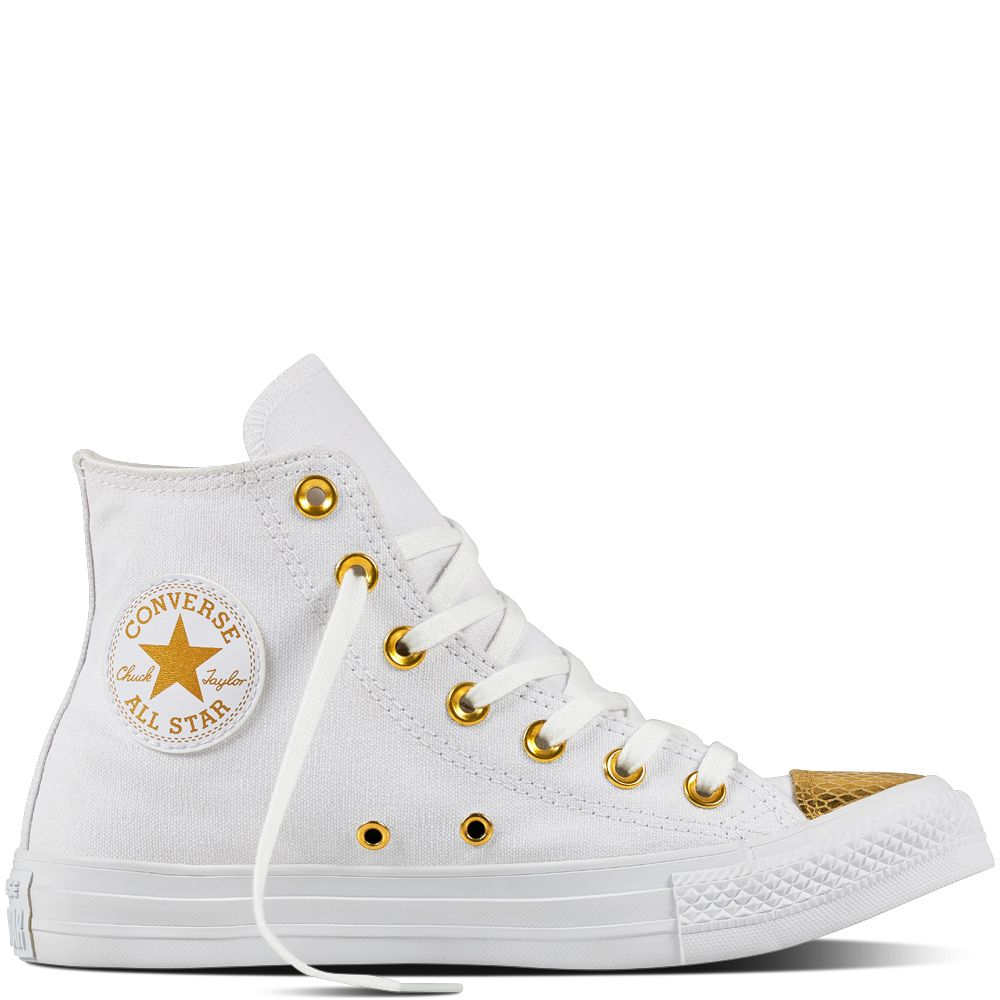 Chuck Taylor All Star Metallic Toecap White/Gold/White