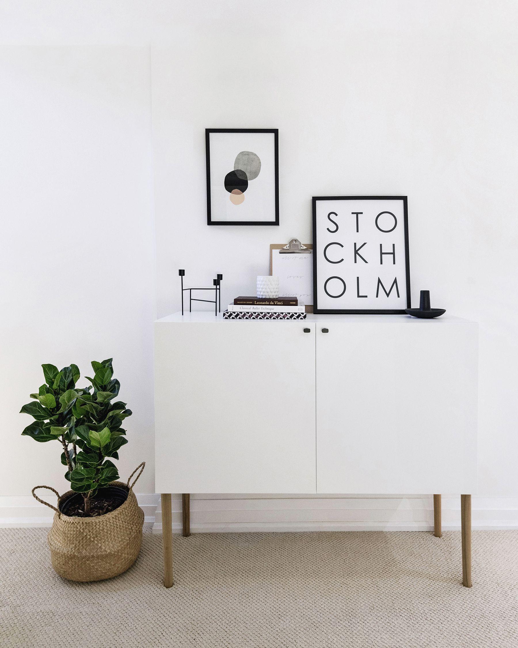 18ikea Besta Hack Scandinavian Sideboard Cabinet Featured At