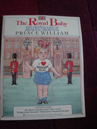 Royal Baby Prince William Cut Out dress up paper Doll Book 1983 Vintage (05/09/2012)