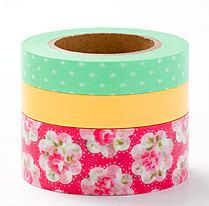 4 rolls washi masking tape set 20mm  discount set 15mm