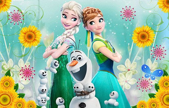 Frozen Fever Personalize Printed Backdrop Vinyl Banner Frozen