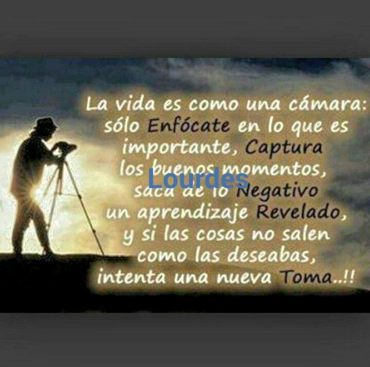 La vida es cm una cámara