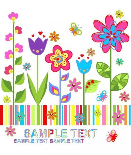De Flores De Fondo Vector De Colorido Descargar Vectores Gratis
