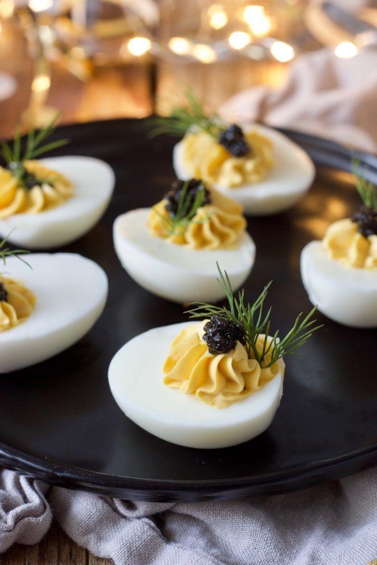 Russische Eier mit Kaviar - Fingerfood - Rezept - Sweets & Lifestyle