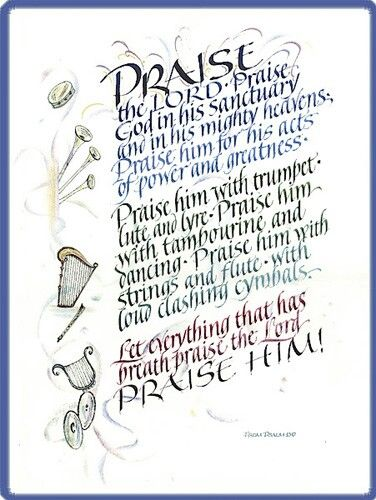 Image result for art psalm 150