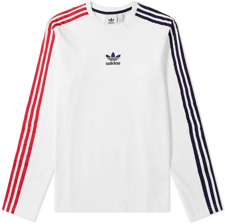 WOMENS ADIDAS ORIGINALS Lengthened Long Sleeve T Shirt Crew