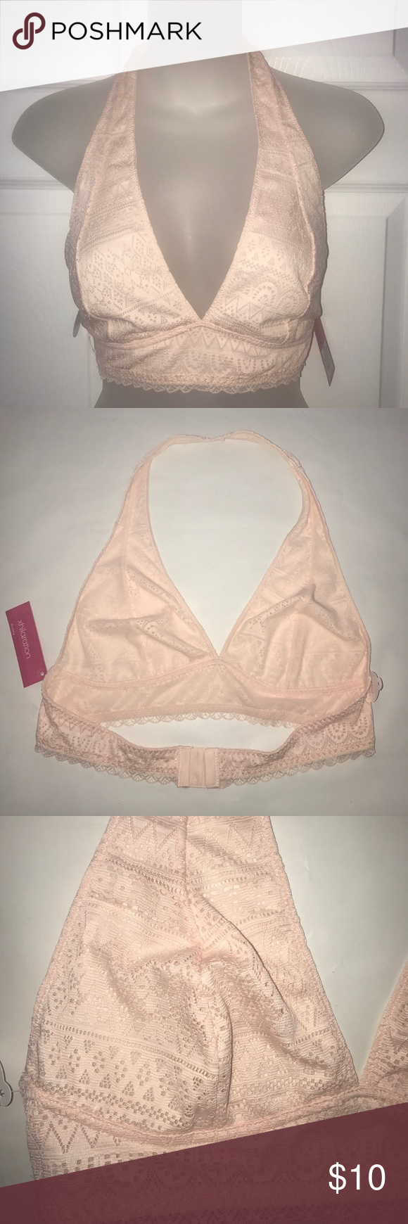9436781da9 NWT lace halter bralette Gorgeous soft peach color. Adjustable back band.  Lined but not padded. Xhilaration Intimates   Sleepwear Bras