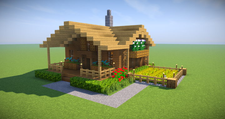 Minecraft Starter House Tutorial Easy How To Build A House In Minecraft Minecraft P Minecraft Small House Minecraft Starter House Minecraft House Tutorials
