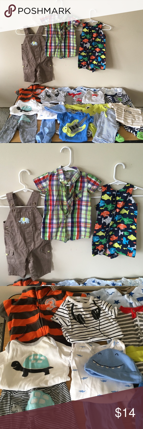 Big Lot Of Name Brand Baby Boy Clothes Mostly Carters Brand W