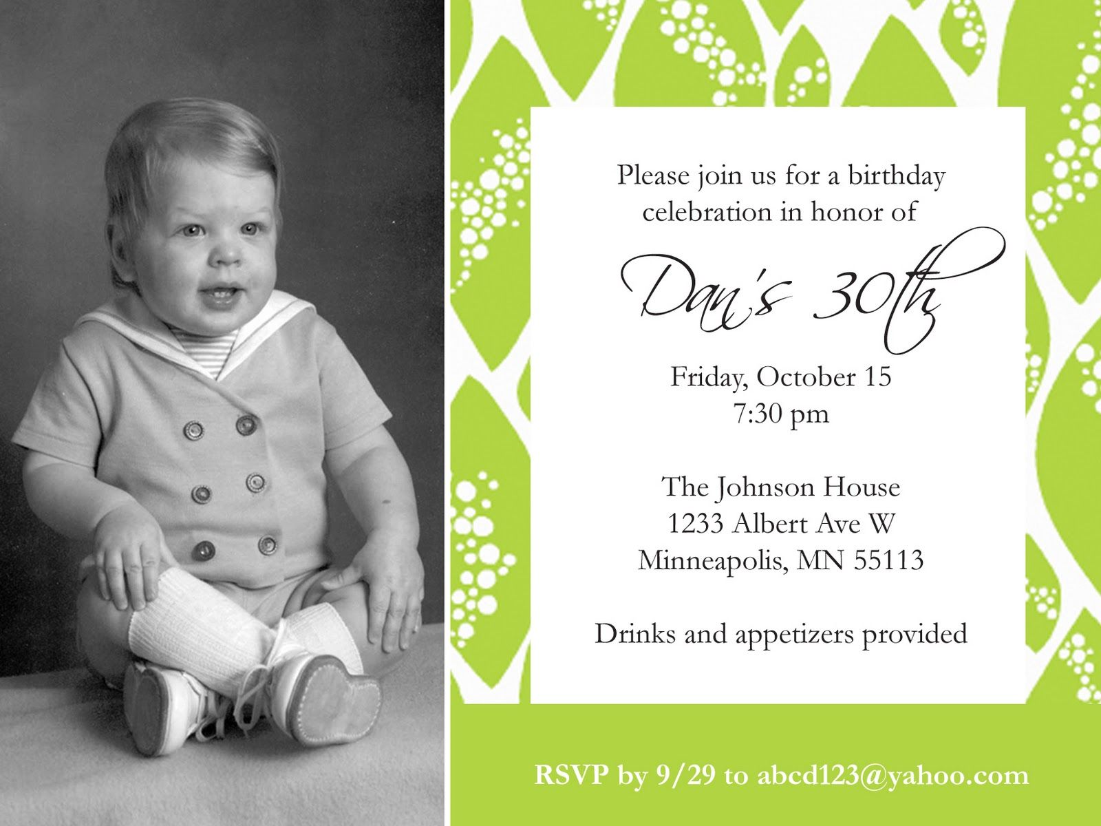 Free Birthday Invitation Templates For Adults ~ Collection of thousands of free baby invitation template from all