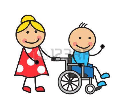 Ninos Discapacitados Hombre De La Historieta En Una Silla De Ruedas Y Una Mujer En Silla De Rued Dibujos Faciles Para Ninos Silla De Ruedas Dibujos Para Ninos