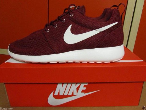 baskets pour pas cher f2dcc 0ff74 Nike Roshe Run Burgundy Running Shoes - Shop for Nike Roshe ...