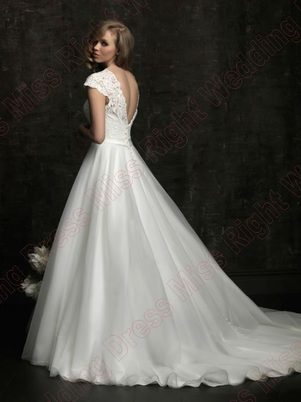 Free Shipping Applique Beading Cathedral Train Organza Ivory Wedding Dress Ebay 18900 Simple Elegance