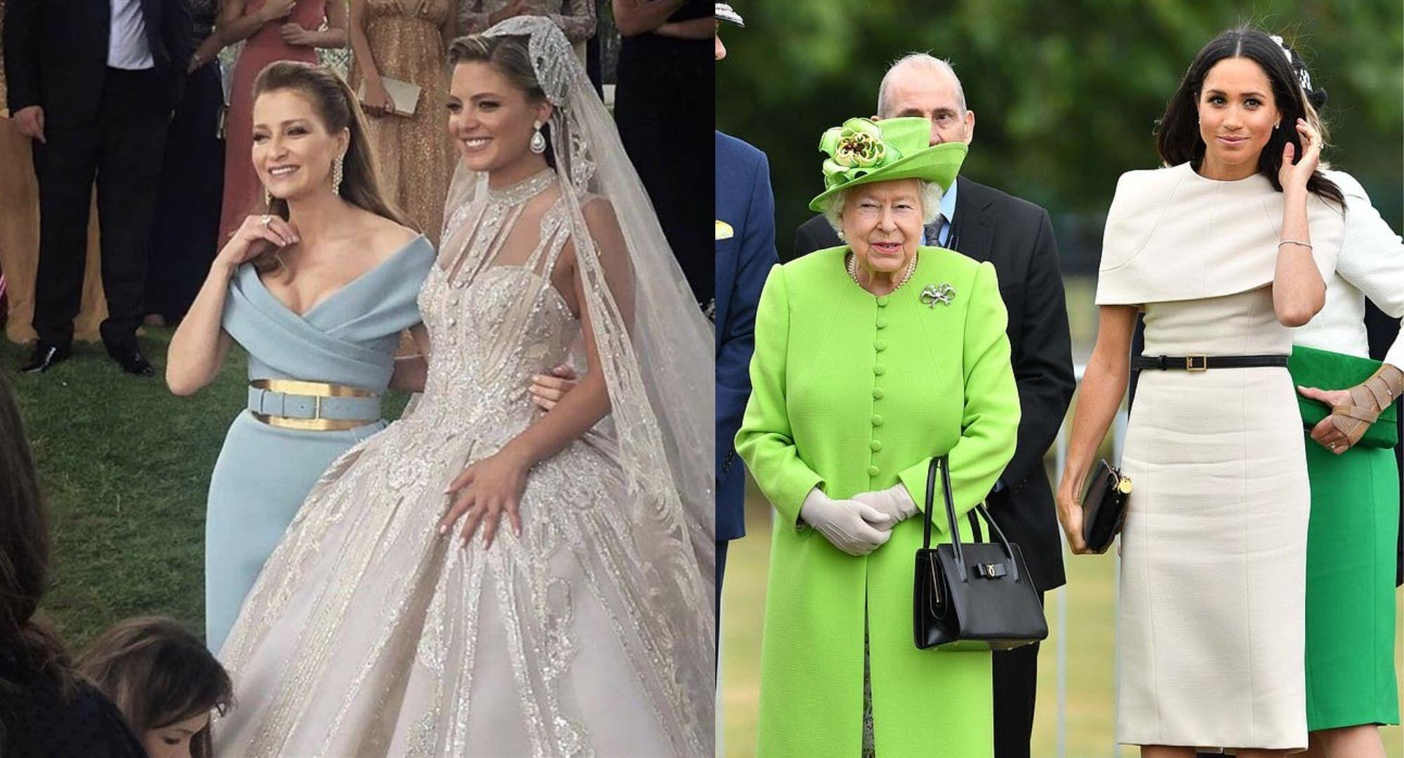 زوجة إيلي صعب وكنتها تتصدران الحديث بأناقة خاطفة ومقارنات مع الملكة إليزابيث وميغان In 2021 Bridesmaid Dresses Dresses Wedding Dresses