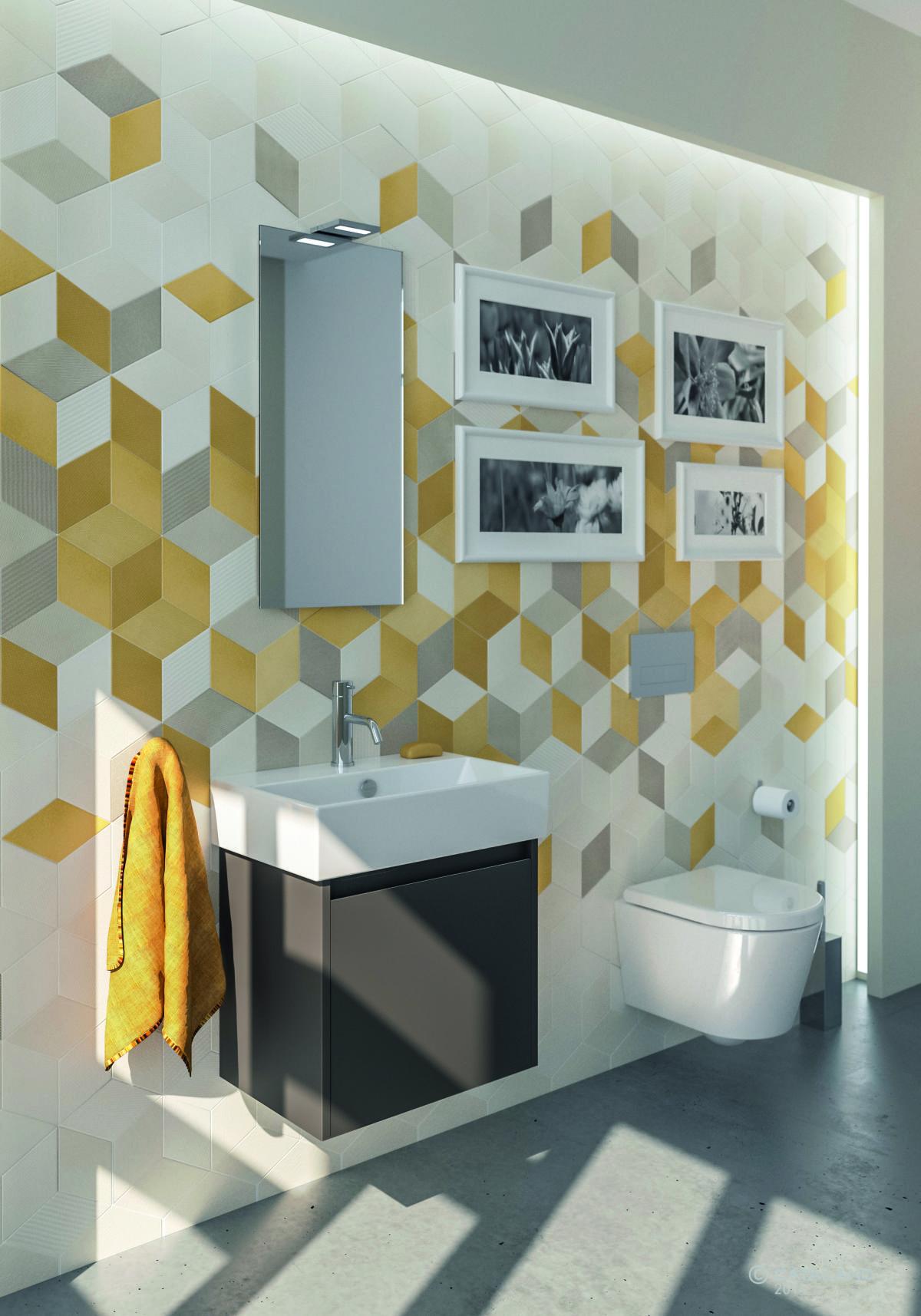 Catalano Premium łazienka Szaro żółta Inspiracje W 2019