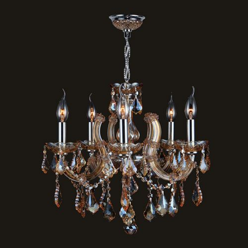 Catherine five light chrome finish with amber crystal chandelier catherine five light chrome finish with amber crystal chandelier aloadofball Image collections