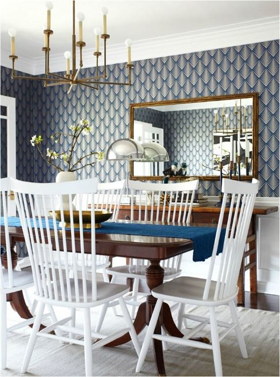 Style Mix Wood Tables  White Chairs Centsational Girl  Wood Inspiration Dining Room Tables And Chairs Cheap Decorating Inspiration