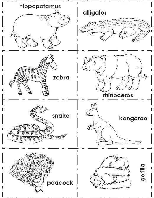 Animals 1 Vocabulary Fichas Ingles Animales En Ingles Y