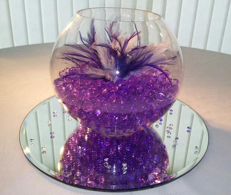 Purple Table Centerpieces For Weddings Wedding