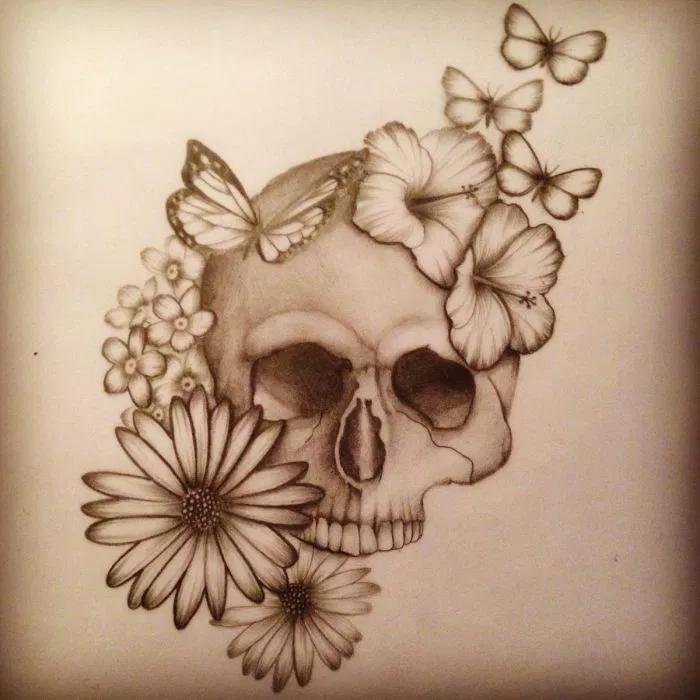 Pin En Calaveras Con Flores