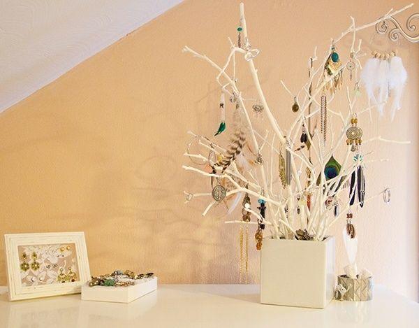 Schmuckbaum selber machen Bastelideen Schlafzimmer Deko Wohnen - dekoration schlafzimmer selber machen