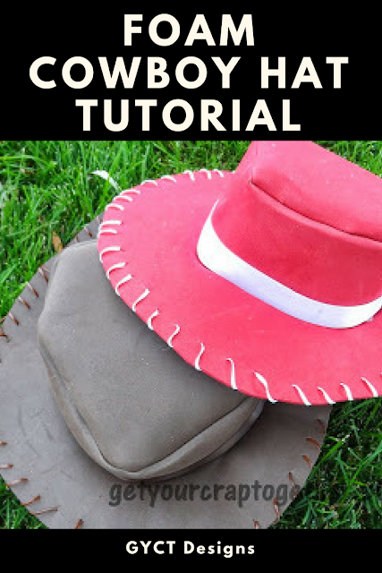 64de3c8cb3a Simple foam cowboy hat tutorial for costumes or dress up